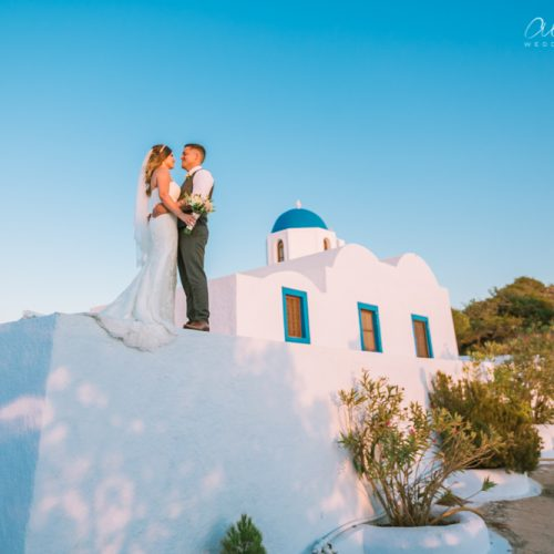 Gold Weddings Santorini